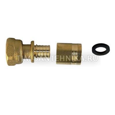 Концовка для коллектора под PEX 3/4*16 с нак. гайкой и с гильзой HJS003-16