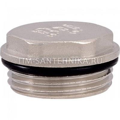Заглушка с уплотнительным кольцом никель ДУ-1