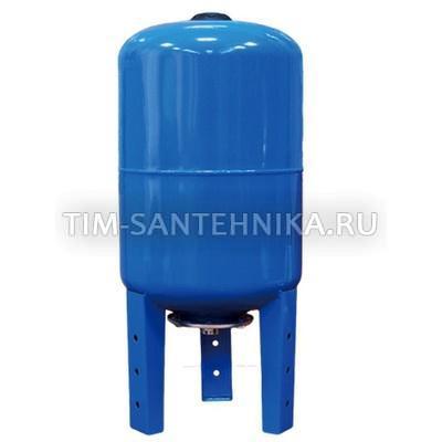Расширительный бак вертикальный 100 литров для х/воды с опорами
