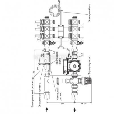 Насосно-смесительный узел JH-1037+AM-XPS20-6-130